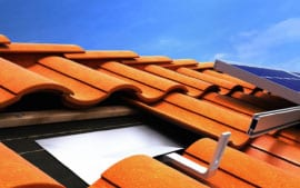 Tiled Roof With Solar Panels Canterbury Sydney