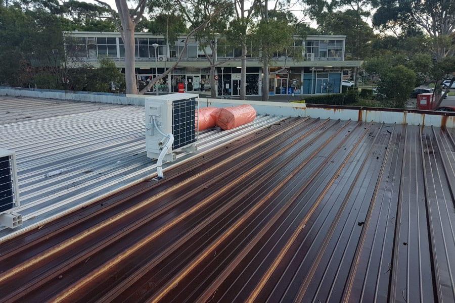 before metal roof repairs Sydney Northside